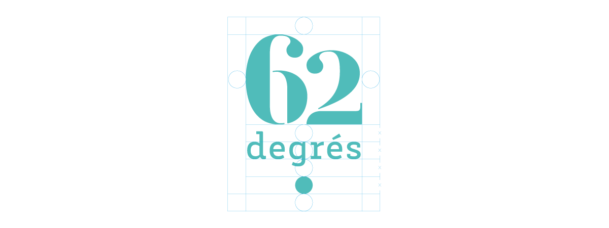 La construction du logo 62 degrés