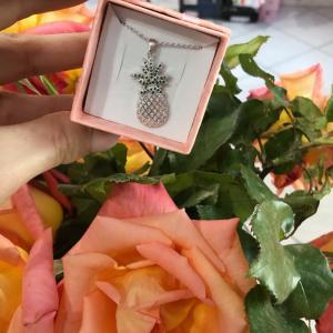 Collana ananas argento