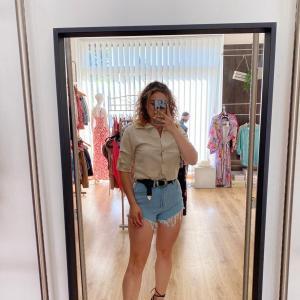 Camicia di lino beige