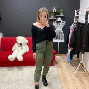 Pantalone tuta verde