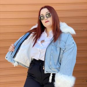 Cappotto di jeans nuvoletta
