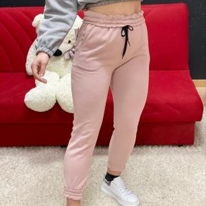 Pantalone tuta cipria
