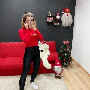 Maglione beautiful (top+cardigan) rosso