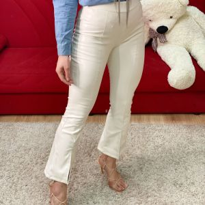 Pantalone con spacchi white