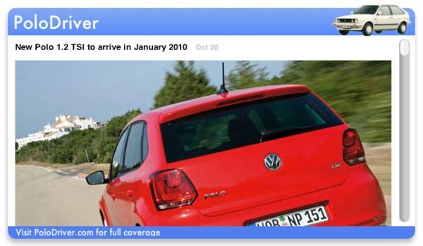 PoloDriver.com widget