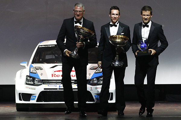 Volkswagen Motorsport celebrates at FIA Gala 2013 evening