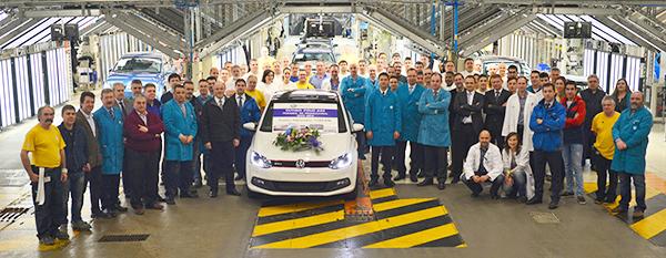 1.5 millionth Volkswagen Polo built by Volkswagen Navarra