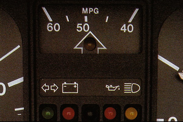 As with the Mk 1, Mk 2 Polo Formel E models featured an mpg indicator and fuel shift light