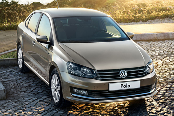 2015 Volkswagen Polo Sedan (Russia): front-end resembles a mini-Passat