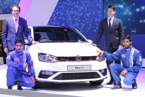 2016 Volkswagen Polo GTI is unveiled at 2016 Auto Expo, India