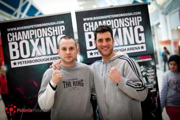 polski bokser w Peterborough