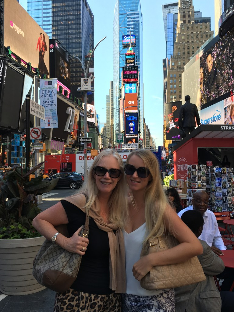 Times Square with my mom