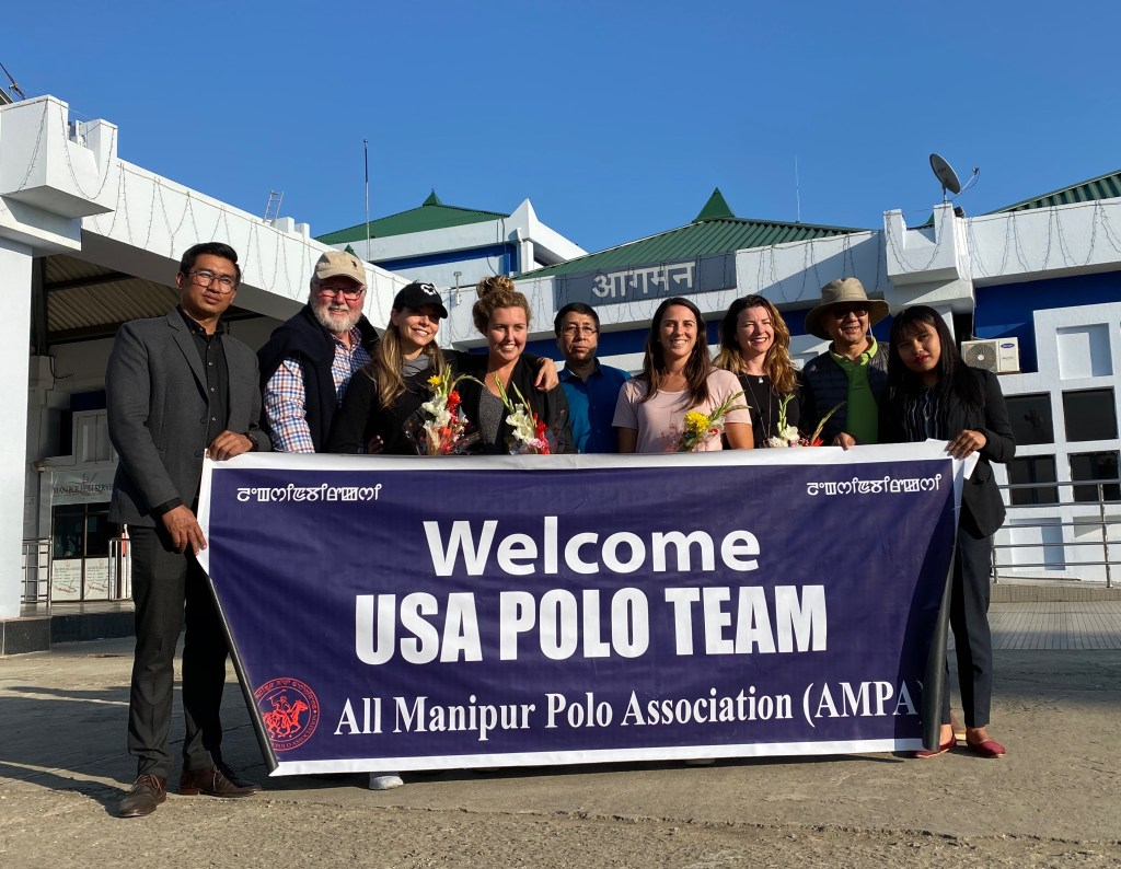 Team USA arriving in Imphal, India; Photo courtesy of Pamela Flanagan