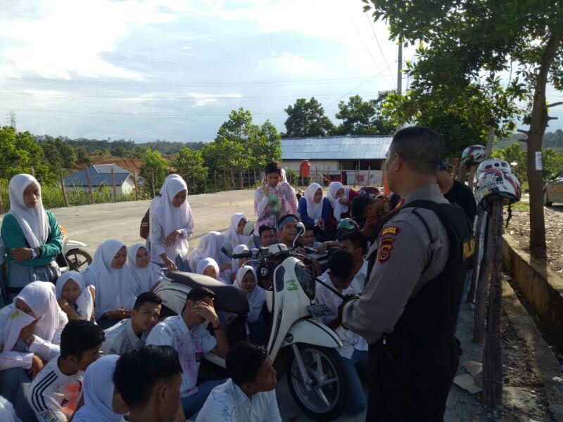 Polres Merangin Amankan Puluhan Pelajar Yang Lakukan Konvoi Sehabis UN