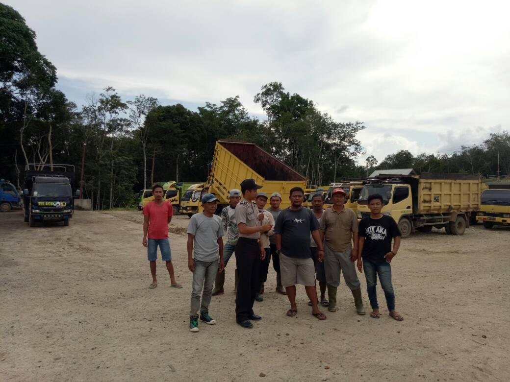 Sambangi Cv Anugerah Bumi Masumai, Bripka Ari Supriyatno Ingatkan Pekerja Jaga Keselamatan Dalam Bekerja