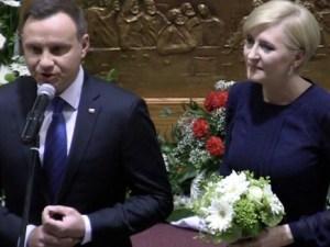 Prezydent z żoną