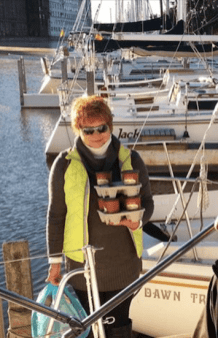 Irena Woszczak - viceprezes KPA w Buffalo z wizytą na jachcie