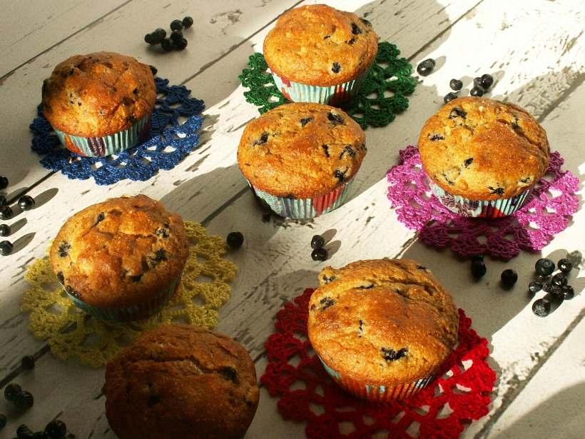 bezglutenowe muffinki z jagodami