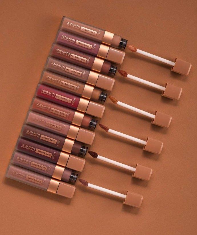Les Chocolates L'Oréal rossetti liquidi