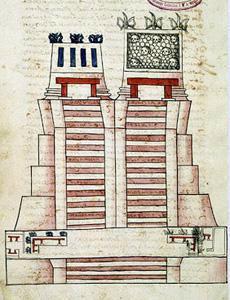 Templo Mayor Códice Ixtlilxóchitl