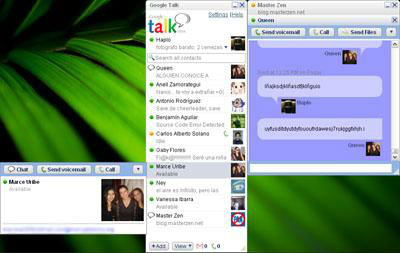 Google Talk y MSN Messenger