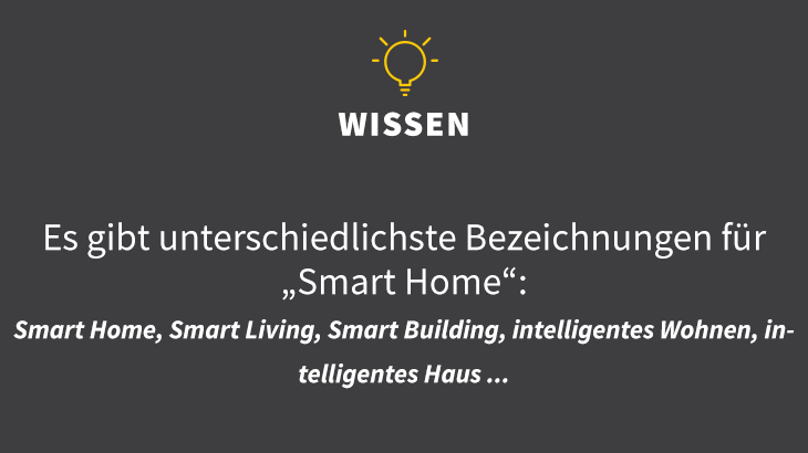 Smart Home, Smart Living, Smart Building, intelligentes Wohnen, intelligentes Haus