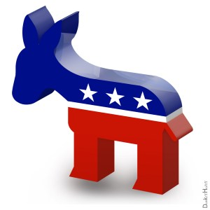 Ein Esel, das Logo der Demokraten in den USA