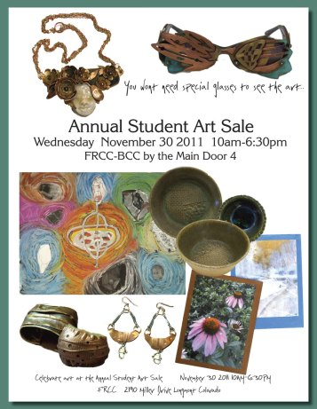 FRCC student art show ad graphics