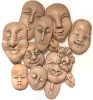 polymer clay faces
