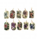 ceramic flower pendants