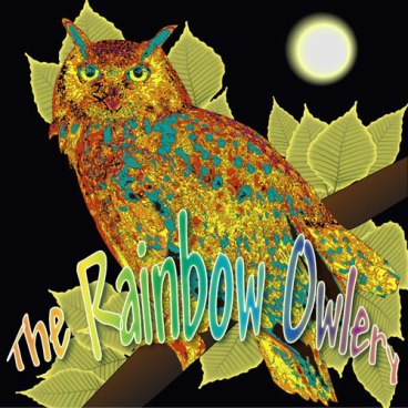 rainbow owl in illustrator