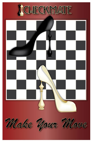 shoe advertisement in illustrator