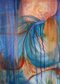 abstract fish watercolor