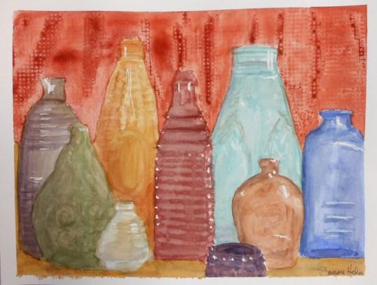 watercolor bottles