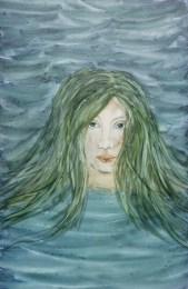 watercolor mermaid on yupo