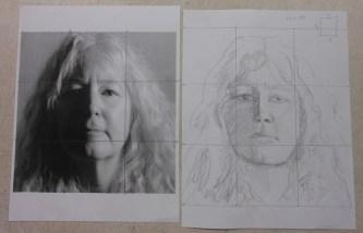 sketch for self portrait