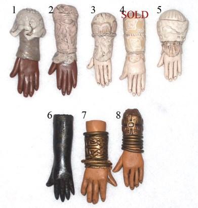 polymer clay hand pendants