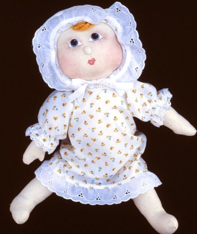 cloth baby doll with painted face
