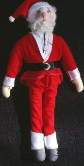 cloth doll Santa Claus