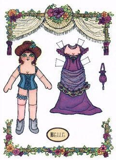 Belle, a Dance Hall paper doll
