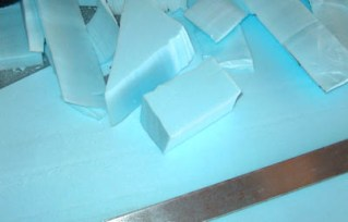 blue insulation foam used for miniature set building