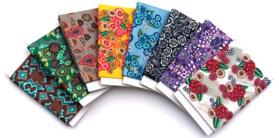 polymer clay miniature fabric bolts