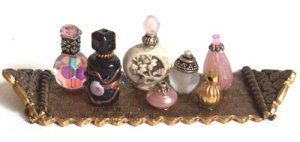 miniature perfume bottles