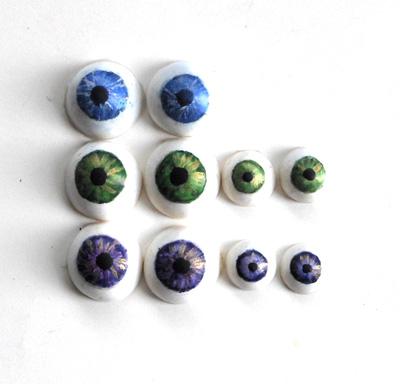 polymer clay eyes
