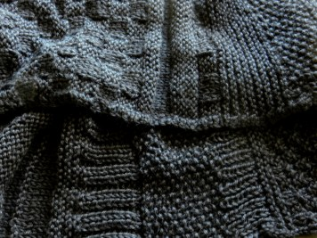 black knit and purl sampler