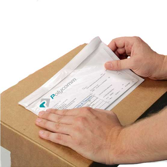 Busta adesiva porta documenti Polycomm