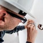 electrician doing his job
