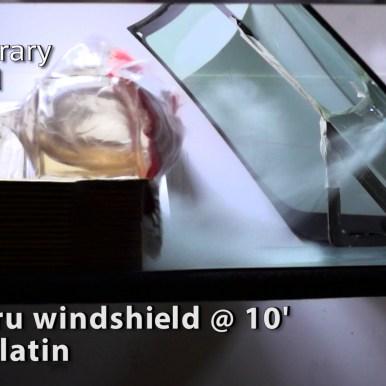 .308 | 7.62 thru windshield at 10 feet into gelatin