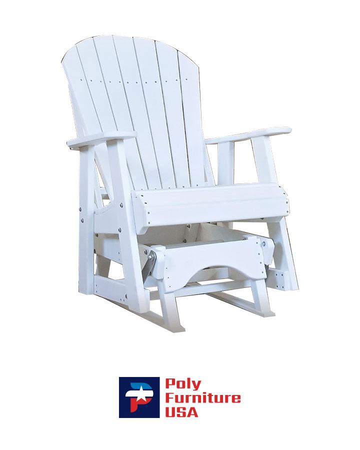 Amish Made Poly Furniture USA 2ft Adirondack Glider White