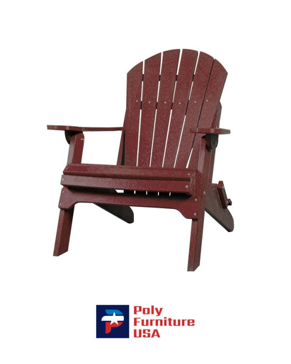 Amish Made Poly Furniture USA Adirondack Chair Cherry-wood